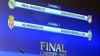 Champions League: derby madrileno in semifinale, la Juve pesca il Monaco