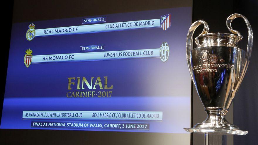 قرعة دوري أبطال أوروبا: ريال مدريد يجابه أتليتيكو في نصف النهائي وموناكو يواجه يوفونتيوس