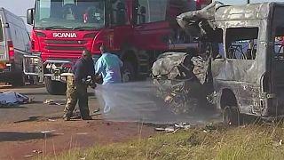 South Africa bus crash kills 19 children