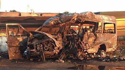 Tears flow as 19 school kids and bus driver perish in South Africa crash