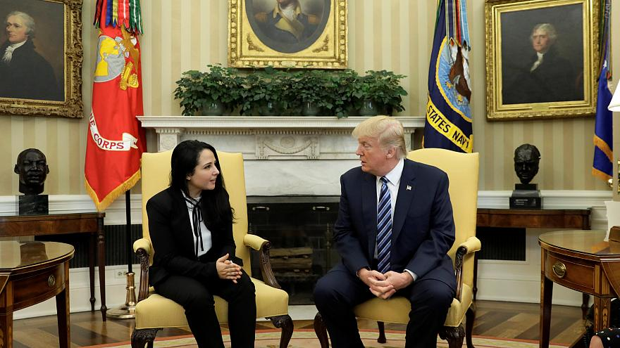 ترامب يستقبل الناشطة الحقوقية المصرية الأميركية آية حجازي