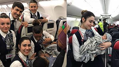Guinean baby girl born on flight promised educational support, future job