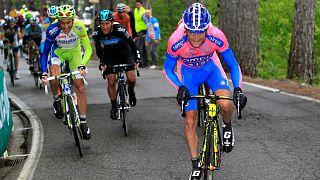 Italienischer Radrennfahrer Scarponi von Kleintransporter überfahren