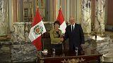 La présidente suisse en viste au Pérou