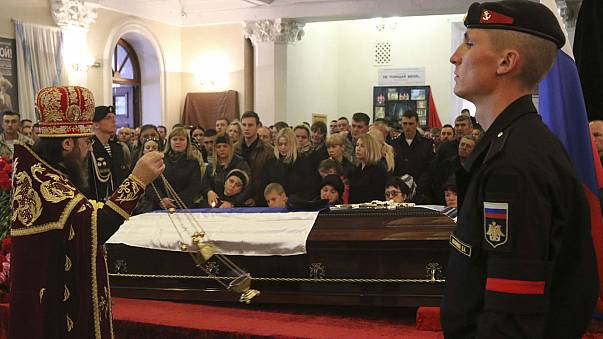 Suriye'de öldürülen Rus askeri için cenaze töreni düzenlendi