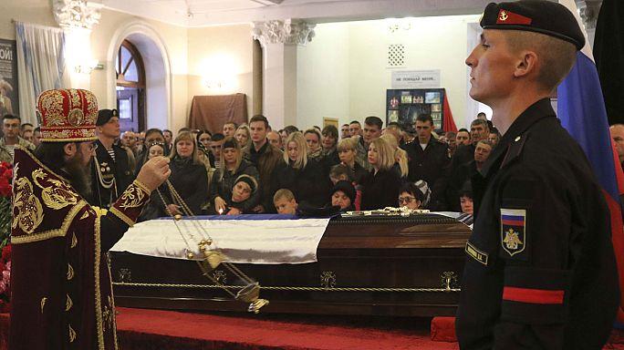 Funeral por el oficial ruso muerto esta semana en un ataque yihadista en Siria