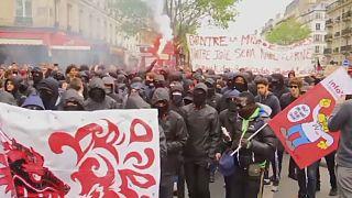 أعمال عنف تتخلل مظاهرة عمالية في باريس