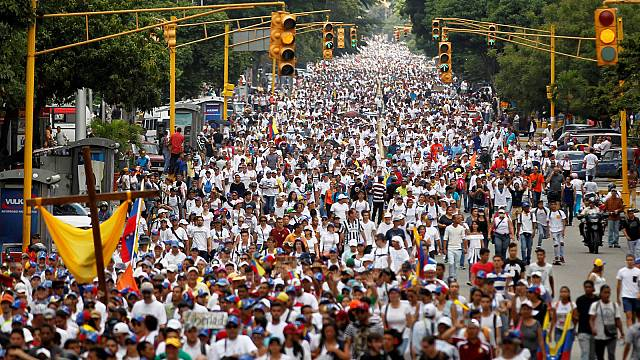 Silent march for people killed in Venezuela protests