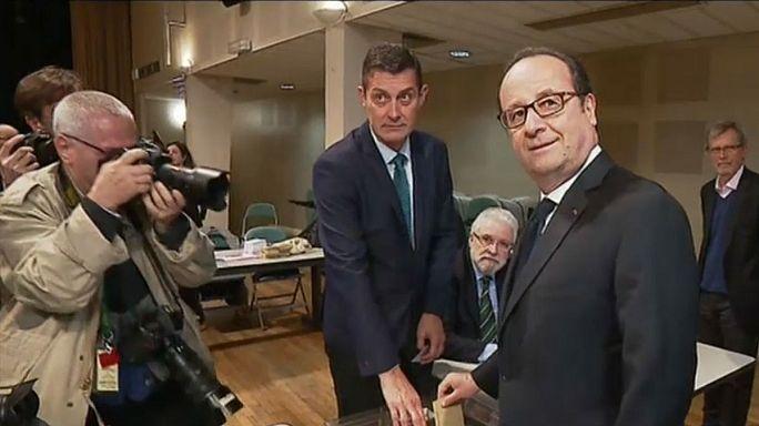 مُرشَّحو انتخابات فرنسا الرئاسية يُدلون بأصواتهم