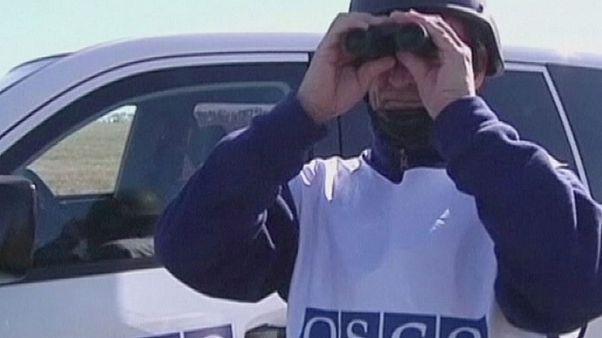 EBESZ-megfigyelők futottak aknára Kelet-Ukrajnában