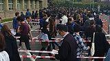 Immense queue pour les électeurs français à Londres