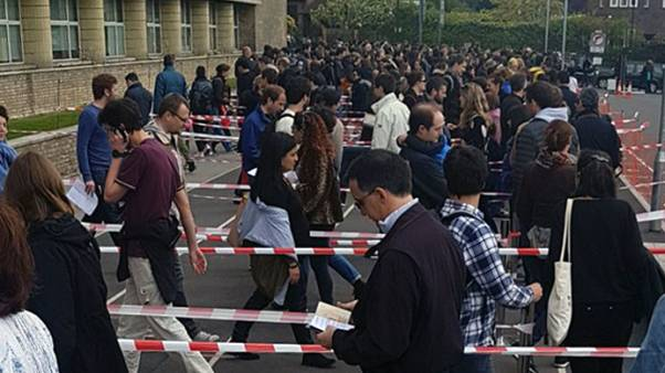 Long lines in London for French voters