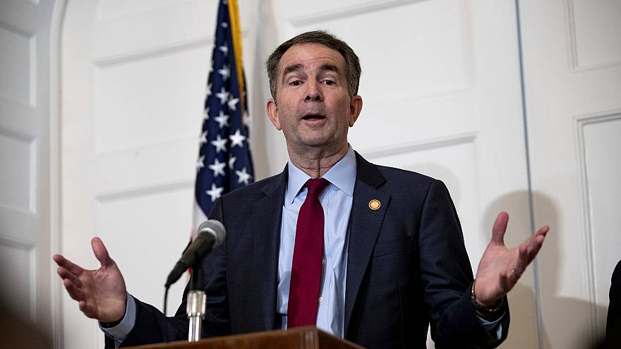 Image: Virginia Governor Ralph Northam speaks at a press conference in Rich