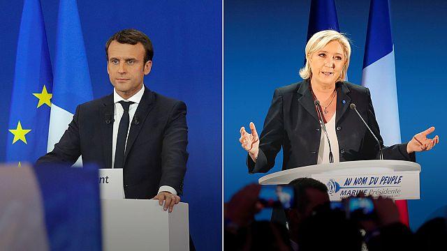 Fransa'da Macron ile Le Pen kozlarını ikinci turda paylaşacak