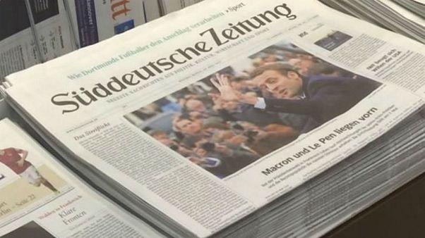 بازتاب دور نخست انتخابات ریاست جمهوری فرانسه در آلمان