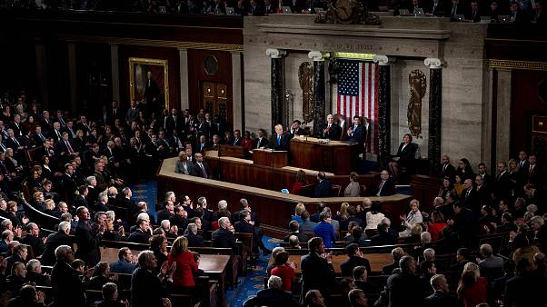 Image: Trump speaks during the 2018 State of the Union address
