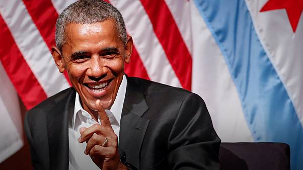 Obama promotes listening skills in first public appearance after leaving office