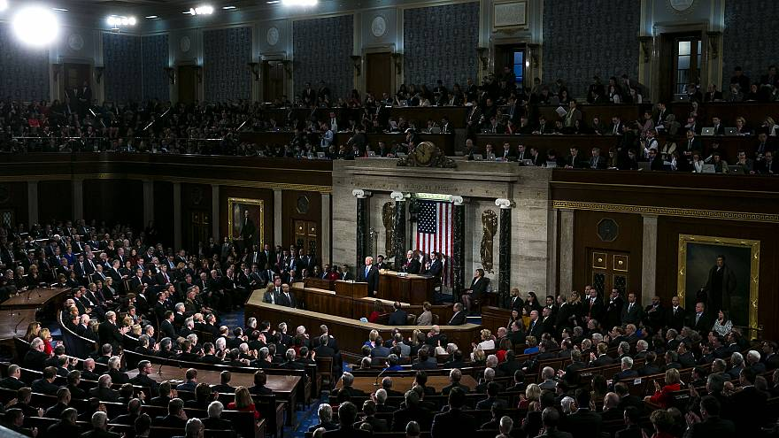 Image: President Donald Trump delivers the State of the Union address to Co