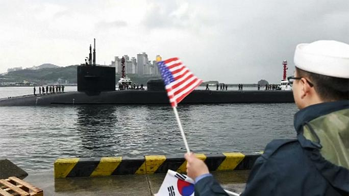 Amerikai tengeralattjáró a koreai partoknál