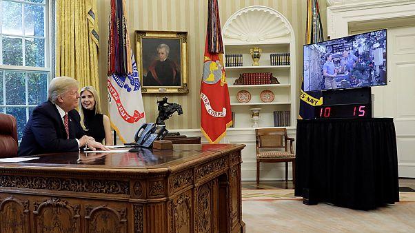 Trump recibió una llamada desde el espacio