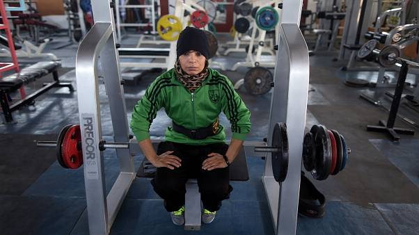 Libya's only female body-builder prepares for Belorussian international competition