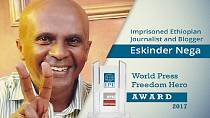 Jailed Ethiopian journalist named 2017 'World Press Freedom Hero'