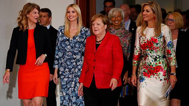 Ivanka booed in Berlin as she defends Donald