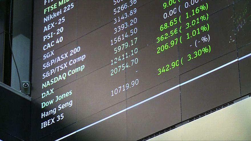 El Eurostoxx 600 de los principales valores europeos, en máximos en veinte meses