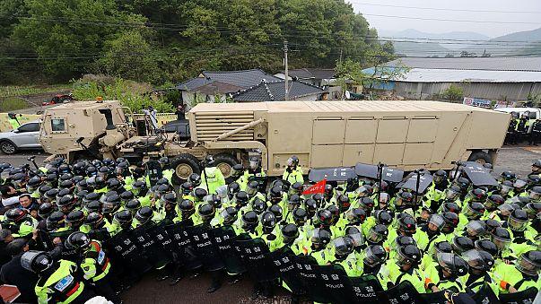 Llegan a Corea del Sur los primeros elementos del escudo antimisiles THAAD