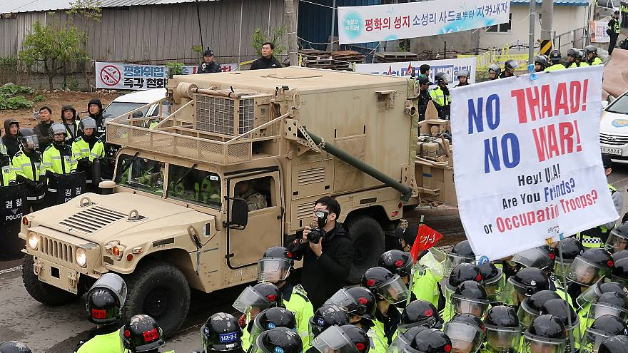 """احتجاجات في كوريا الجنوبية على نشر منظومة """"ثاد"""" الصاروخية الأمريكية"""