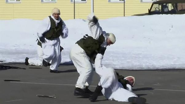 Непогода российским мотострелкам не помеха