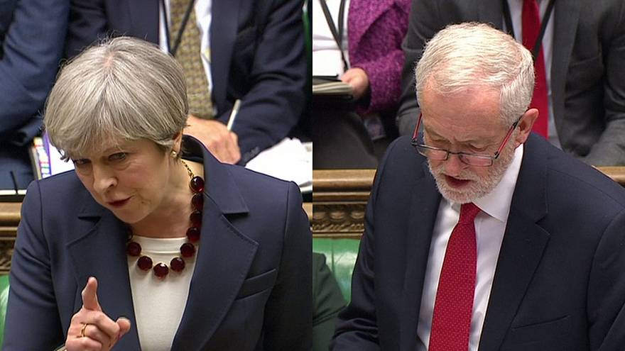 May and Corbyn clash over Brexit in final PMQ session