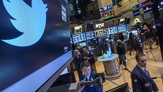 Twitter diminui receitas mas dispara na bolsa
