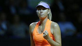 Maria Sharapova wins comeback match