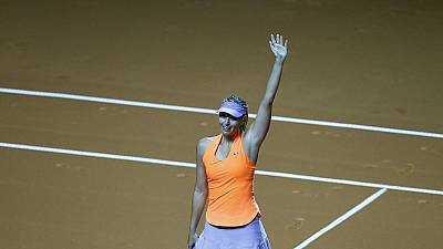 Maria Sharapova wins on return from ban