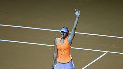 Maria Sharapova wins on return from ban