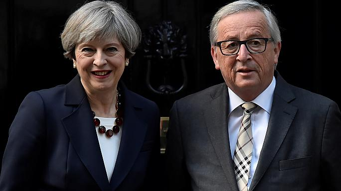Ablauf des Brexit: Theresa May trifft Jean-Claude Junker