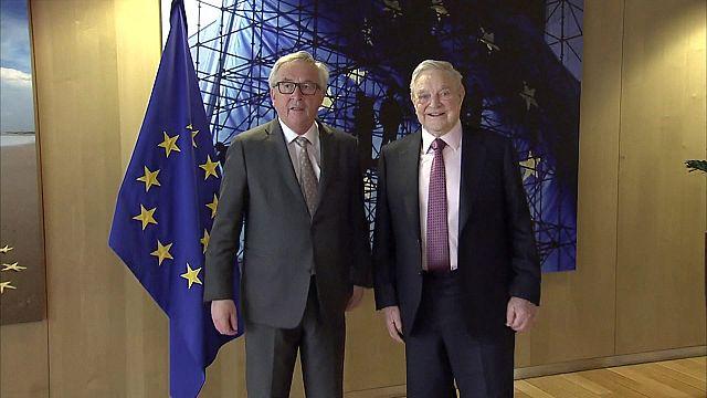 Visite de George Soros à Bruxelles