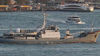 کشتی نیروی دریایی روسیه در آبهای ترکیه غرق شد