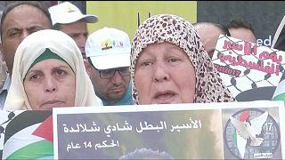 Batı Şeria esnafı Filistinli mahkumlara destek olmak amacıyla kepenk kapattı