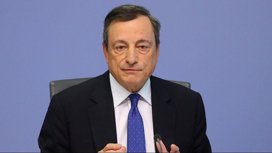 Draghi habla de mejora en la eurozona, pero mantiene sus tipos