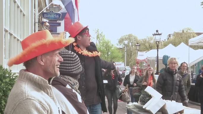 Dutch delight with orange to celebrate King's 50th birthday