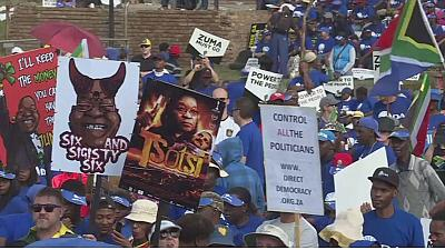 South Africa's Freedom Day protest held against Zuma