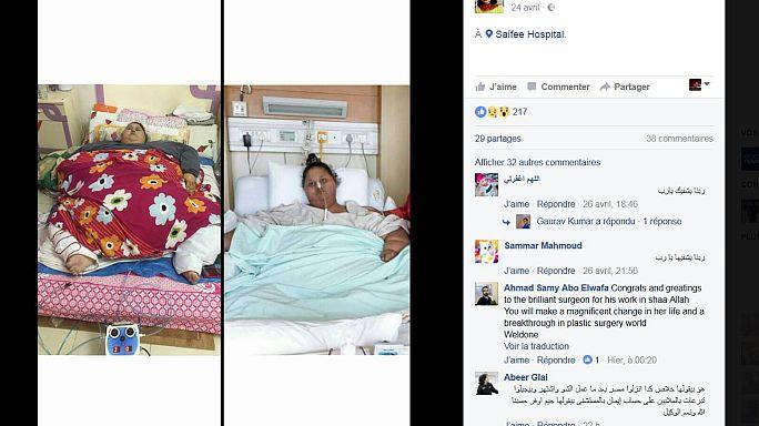 """نقل إيمان أحمد """"أسمن امرأة في العالم"""" إلى مستشفى في أبوظبي"""