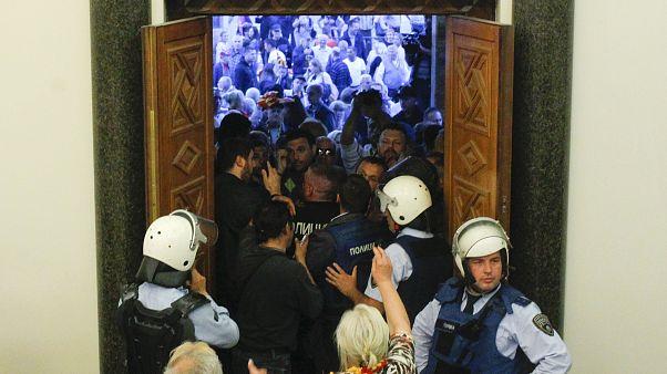حمله ملی گرایان به پارلمان جمهوری مقدونیه