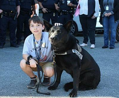 Ten-year-old Tyler Carach says he hopes to be a K-9 officer when he grows up.