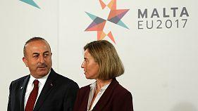 La UE debate la situación de Turquía en Malta