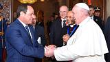 Pope Francis calls for peace and dialogue with Muslim in Egypt