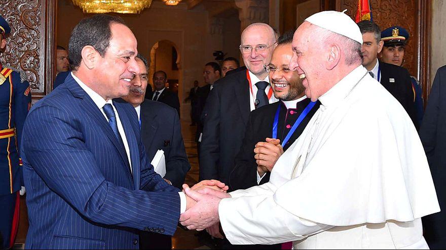 A gyűlölet ellen szólt Ferenc pápa Egyiptomban