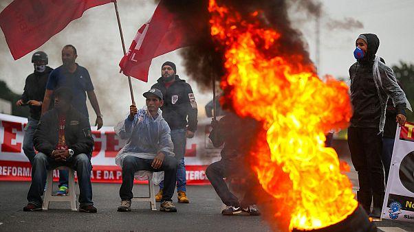Brésil : une grève générale immobilise les grandes villes du pays